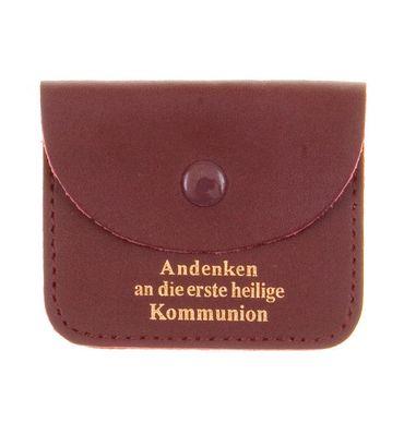 Leder Rosenkranz Tasche Kommunion Goldprägung