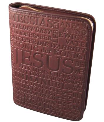 Gotteslobhülle Jesus Christus Kunstleder Braun