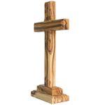 Stehkreuz Olivenholz aus Jerusalem 18 cm Versehkreuz Tischkreuz – Bild 2