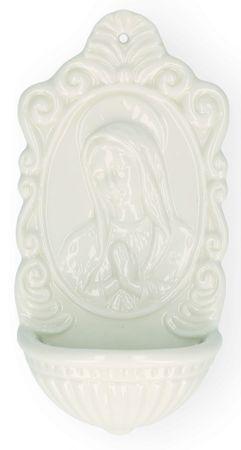 Weihwasserbecken Mutter Gottes Porzellan 16 cm