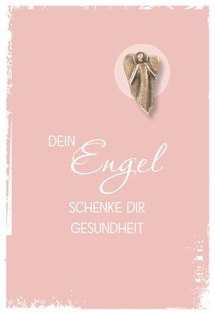 Grusskarte Dein Engel schenke Dir Engel Bronze (5 St)