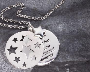 Taufe Stern-Anhänger Als du geboren 925 Silber, Kette