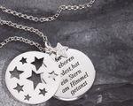 Taufe Stern-Anhänger Als du geboren 925 Silber Zirkonia 3-tlg, Silberkette – Bild 1