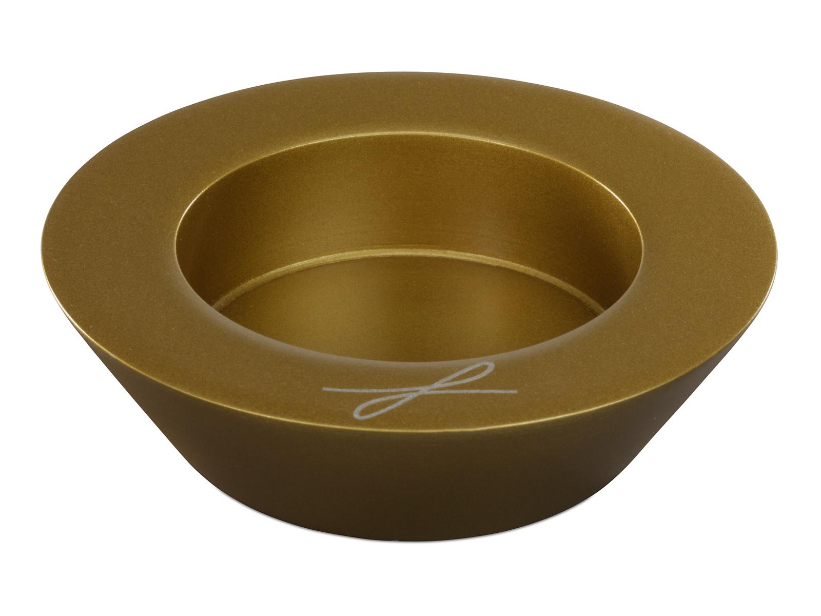 kerzenhalter aluminium goldfarben f r kerzen 6 cm. Black Bedroom Furniture Sets. Home Design Ideas