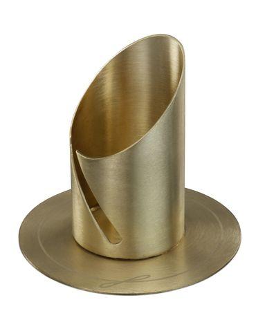 Kerzenhalter goldfarben Ø 9 cm, für Kerze Ø 4 cm
