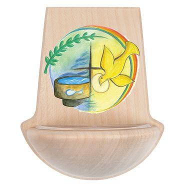 Kinderweihkessel Taufe Symbole Taube Wasser 11 cm