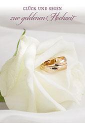 Glückwunschkarte Eheringe 6 St Goldenen Hochzeit