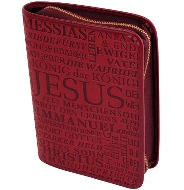 Gotteslobhülle Jesus Christus Großdruck Kunstleder Rot