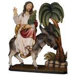 Einzug Jesu in Jerusalem Holzfigur geschnitzt Südtirol – Bild 1