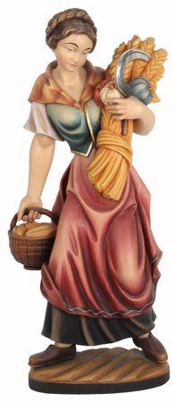Heilige Notburga Heiligenfigur Holz geschnitzt
