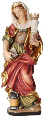 Heilige Barbara Holzfigur geschnitzt Südtirol