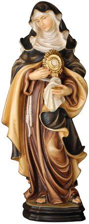 Heilige Klara mit Monstranz Holzfigur geschnitzt