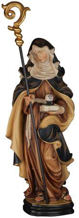 Heilige Hildegard Heiligenfigur Holz geschnitzt