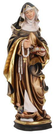 Heilige Monika Heiligenfigur Holz geschnitzt Südtirol