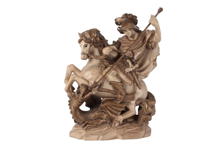 Bronze Metallobjekte Holz Skulptur Heiliger Georg