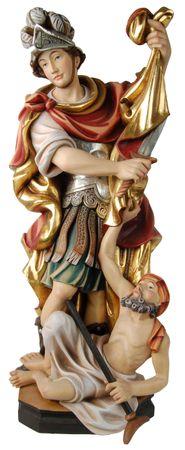 Heiliger Martin stehend Holzfigur geschnitzt