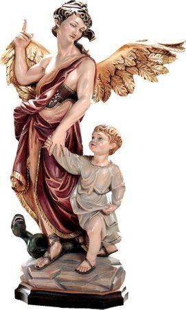 Heiliger Schutzengel Raphael Holzfigur geschnitzt