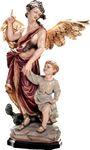 Heiliger Schutzengel Raphael Holzfigur geschnitzt Südtirol Schutzpatron Erzengel – Bild 1