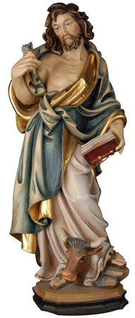 Heiliger Lukas Holzfigur geschnitzt Südtirol Patron