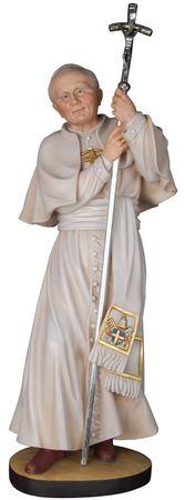 Heiliger Johannes Paul II. Holzfigur geschnitzt