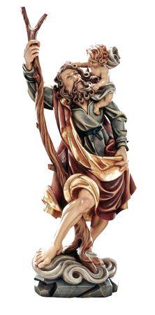 Heiliger Christophorus Heiligenfigur Holz geschnitzt