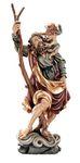 Heiliger Christophorus Heiligenfigur Holz geschnitzt Südtirol Schutzpatron  – Bild 1