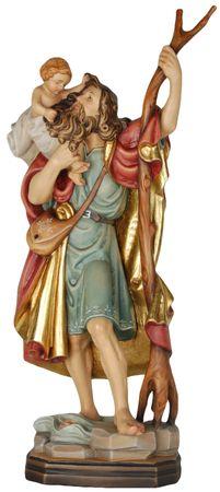 Heiliger Christophorus Jesukind Heiligenfigur Holz