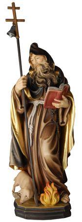 Heiliger Antonius der Große Holzfigur geschnitzt