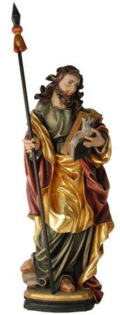 Heiliger Thomas Holzfigur geschnitzt Südtirol