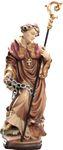 Heiliger Leonhard Priester Holzfigur geschnitzt Südtirol – Bild 1