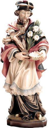 Heiliger Franz Xaver Holzfigur geschnitzt Südtirol