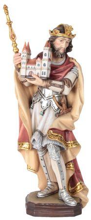 Heiliger Heinrich Holzfigur geschnitzt Südtirol