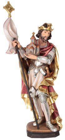 Heiliger Leopold Holzfigur geschnitzt Südtirol