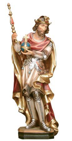 Heiliger Erich mit Reichsapfel und Zepter Holzfigur
