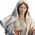 Madonna Medjugorje mit Kirche Holzfigur geschnitzt Südtirol Marienfigur – Bild 2