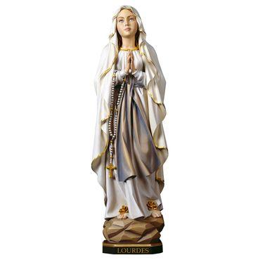Madonna Lourdes Holzfigur geschnitzt Südtirol