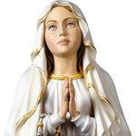 Madonna Lourdes Holzfigur geschnitzt Südtirol Maria Mutter Gottes Figur – Bild 2