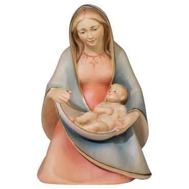 Madonna der Hoffnung sitzend Holzfigur geschnitzt