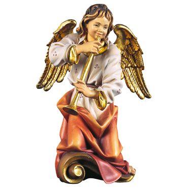 Chorengel mit Flöte Holzfigur geschnitzt Engelfigur