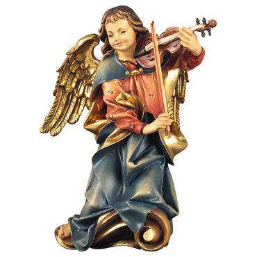 Chorengel mit Geige Holzfigur geschnitzt Engelfigur