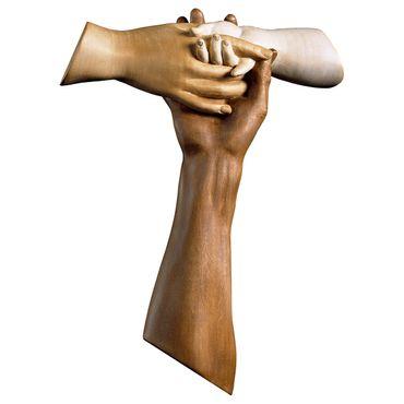 Kreuz der Freundschaft Tau Holzkreuz Kruzifix