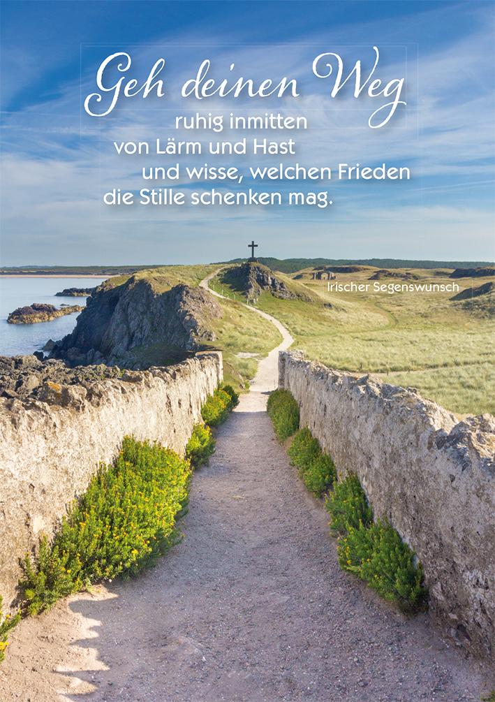 Postkarte Weg Irischer Segenswunsch 10 St Adressfeld