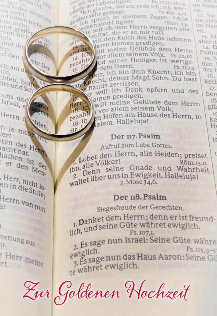 Glückwunschkarte Goldene Hochzeit Ringe 6 St Kuvert