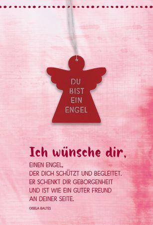Grußkarte Engel Gisela Baltes Engel-Anhänger 5 St