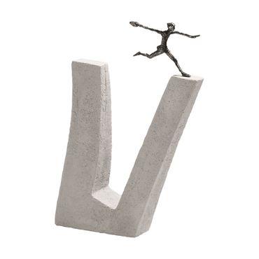 Bronzefigur Wer wagt 35 cm Bronze Steinguss