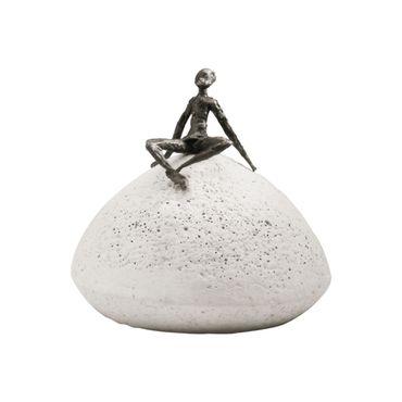 Bronzefigur Zeit der Entspannung 10 cm Bronze