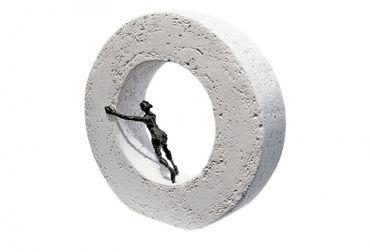 Bronzefigur Die Dinge von innen bewegen 21 cm Bronze