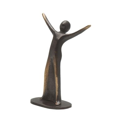 Bronzefigur Freude 7,5 cm Skulptur