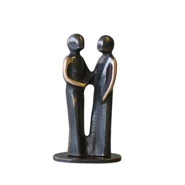 Bronzefigur Danke 8 cm Skulptur patiniert