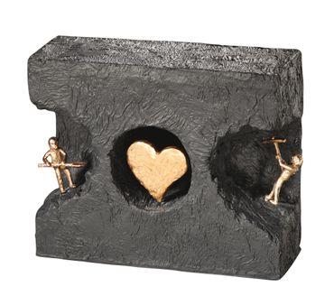 Bronzefigur Zueinander finden 15 cm Skulptur